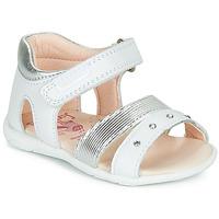 Zapatos Niña Sandalias Pablosky DINNA Blanco / Plata