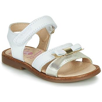 Zapatos Niña Sandalias Pablosky  Blanco / Oro