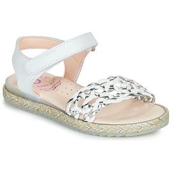 Zapatos Niña Sandalias Pablosky MINNA Blanco / Plata