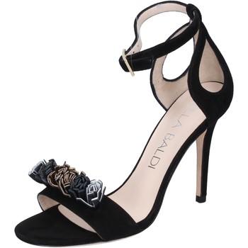 Zapatos Mujer Sandalias Lella Baldi sandalias gamuza negro
