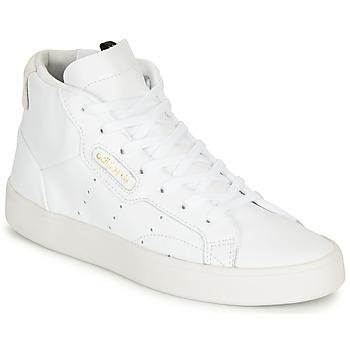 Zapatos Mujer Zapatillas altas adidas Originals adidas SLEEK MID W Blanco