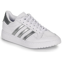 Zapatos Zapatillas bajas adidas Originals MODERN 80 EUR COURT W Blanco / Plateado
