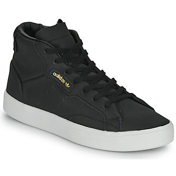 Zapatos Mujer Zapatillas altas adidas Originals adidas SLEEK MID W Negro