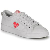 Zapatos Mujer Zapatillas bajas adidas Originals NIZZA TREFOIL W Blanco