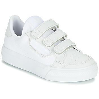Zapatos Niños Zapatillas bajas adidas Originals CONTINENTAL VULC CF C Blanco / Beige