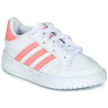 Zapatos Niña Zapatillas bajas adidas Originals NOVICE EL I Blanco / Rosa