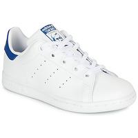Zapatos Niños Zapatillas bajas adidas Originals STAN SMITH C Blanco / Azul