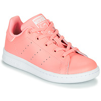 Zapatos Niña Zapatillas bajas adidas Originals STAN SMITH C Rosa