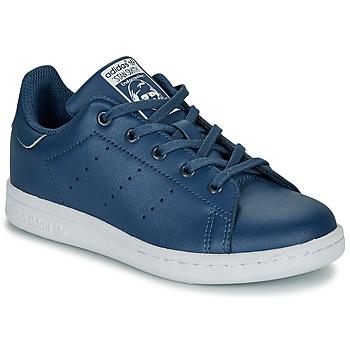 Zapatos Niño Zapatillas bajas adidas Originals STAN SMITH C Azul