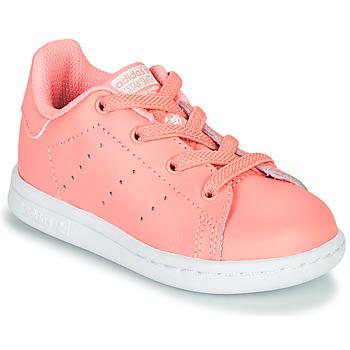 Zapatos Niña Zapatillas bajas adidas Originals STAN SMITH EL I Rosa