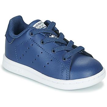 Zapatos Niño Zapatillas bajas adidas Originals STAN SMITH EL I Marino