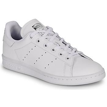 Zapatos Niños Zapatillas bajas adidas Originals STAN SMITH J Blanco