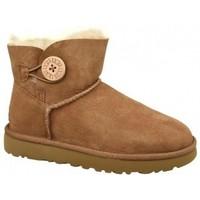 Zapatos Mujer Botas de nieve UGG Mini Bailey Button II marrón