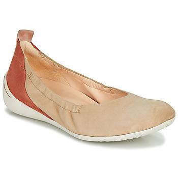 Zapatos Mujer Bailarinas-manoletinas Think CUGAL Beige / Rojo
