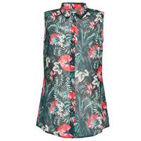 textil Mujer Tops / Blusas Guess SL CLOUIS SHIRT Negro / Verde / Rojo