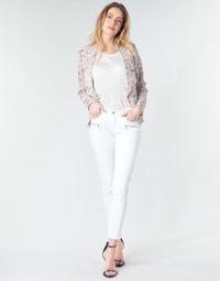 textil Mujer Vaqueros slim Le Temps des Cerises KIEV SKINY7/8 Blanco