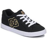Zapatos Mujer Zapatillas bajas DC Shoes CHELSEA TX Negro / Oro