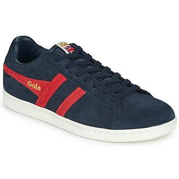 Zapatos Hombre Zapatillas bajas Gola EQUIPE SUEDE Marino / Rojo