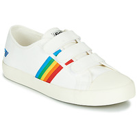 Zapatos Mujer Zapatillas bajas Gola COASTER RAINBOW VELCRO Blanco