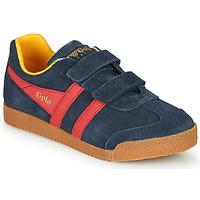 Zapatos Niños Zapatillas bajas Gola HARRIER VELCRO Azul / Rojo