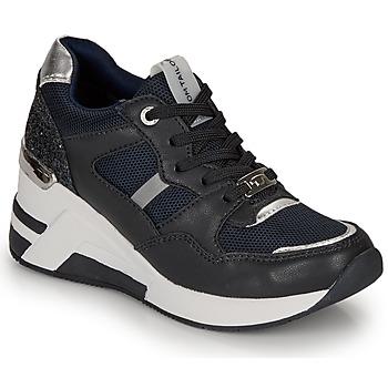 Zapatos Mujer Zapatillas bajas Tom Tailor 8091512 Marino / Negro