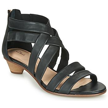 Zapatos Mujer Sandalias Clarks MENA SILK Negro