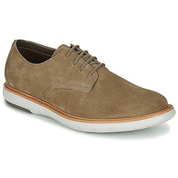 Zapatos Hombre Derbie Clarks DRAPER LACE Beige
