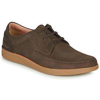Zapatos Hombre Derbie Clarks OAKLAND CRAFT Marrón