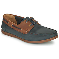 Zapatos Hombre Derbie Clarks PICKWELL SAIL Marino / Marrón