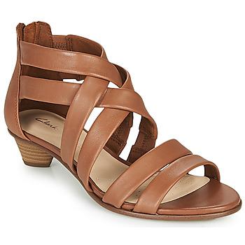 Zapatos Mujer Sandalias Clarks MENA SILK Camel