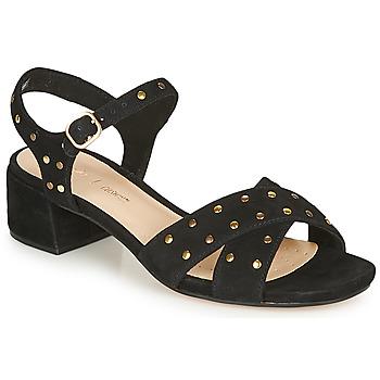 Zapatos Mujer Sandalias Clarks SHEER35 STRAP Negro / Clou