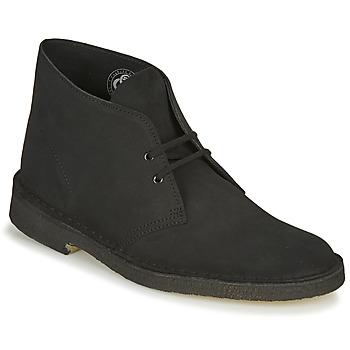 Zapatos Hombre Botas de caña baja Clarks DESERT BOOT Negro