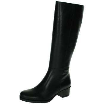 Zapatos Mujer Botas urbanas Lorena Massó Botas de piel Negro