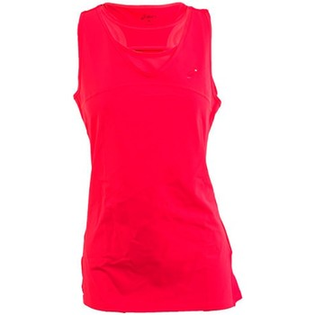 textil Mujer camisetas sin mangas Asics CAMISETA ATHELETE TANK ROSA FLUOR FUCSIA