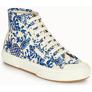Zapatos Mujer Zapatillas altas Superga 2295-COTFANW Beige / Azul
