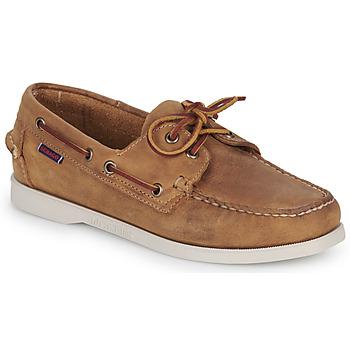 Zapatos Mujer Zapatos náuticos Sebago DOCKSIDES PORTLAND CRAZY H W Marrón