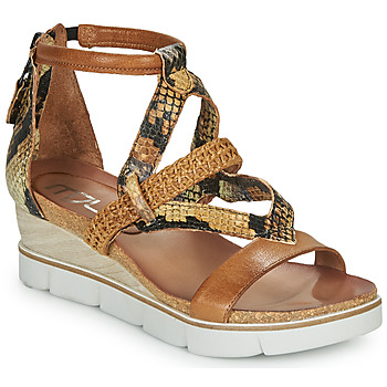 Zapatos Mujer Sandalias Mjus TAPASITA Marrón / Serpiente