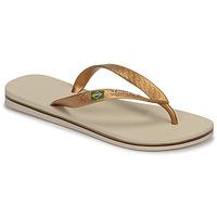Zapatos Mujer Chanclas Ipanema CLAS BRASIL II Beige / Oro