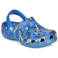 Zapatos Niño Zuecos (Clogs) Crocs CLASSIC SHARK CLOG Azul