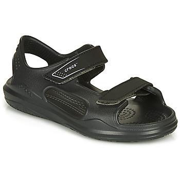Zapatos Niños Sandalias Crocs SWIFTWATER EXPEDITION SANDAL Negro