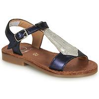 Zapatos Niña Sandalias Shoo Pom HAPPY TIE Azul / Plata