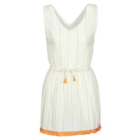 textil Mujer Vestidos cortos Banana Moon MARZUL MANDALO Blanco / Naranja