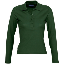 textil Mujer polos manga larga Sols PODIUM COLORS Verde