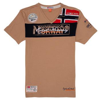 textil Niño camisetas manga corta Geographical Norway JIDNEY Beige