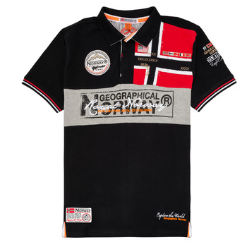 textil Niño Polos manga corta Geographical Norway KIDNEY Negro