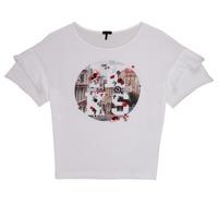 textil Niña Camisetas manga corta Ikks DIBILIOU Blanco