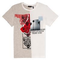 textil Niño Camisetas manga corta Ikks RULIO Beige / Blanco