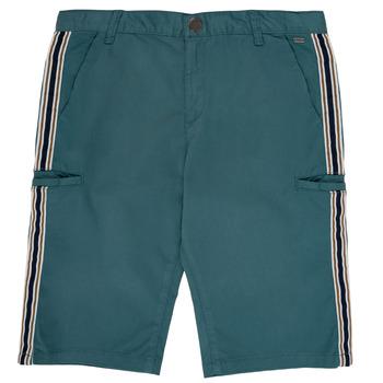 textil Niño Shorts / Bermudas Ikks MANUELA Azul / Verde