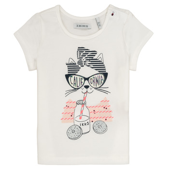 textil Niña camisetas manga corta Ikks MEOLIA Blanco