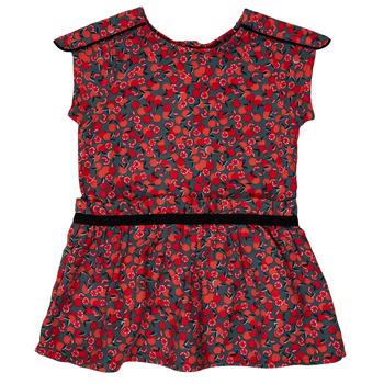 textil Niña vestidos cortos Ikks MAGGIE Gris / Rojo